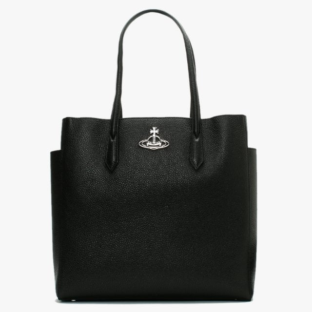 VIVIENNE WESTWOOD ACCESSORIES JOHANNA LARGE SHOPPER BAG BLACK