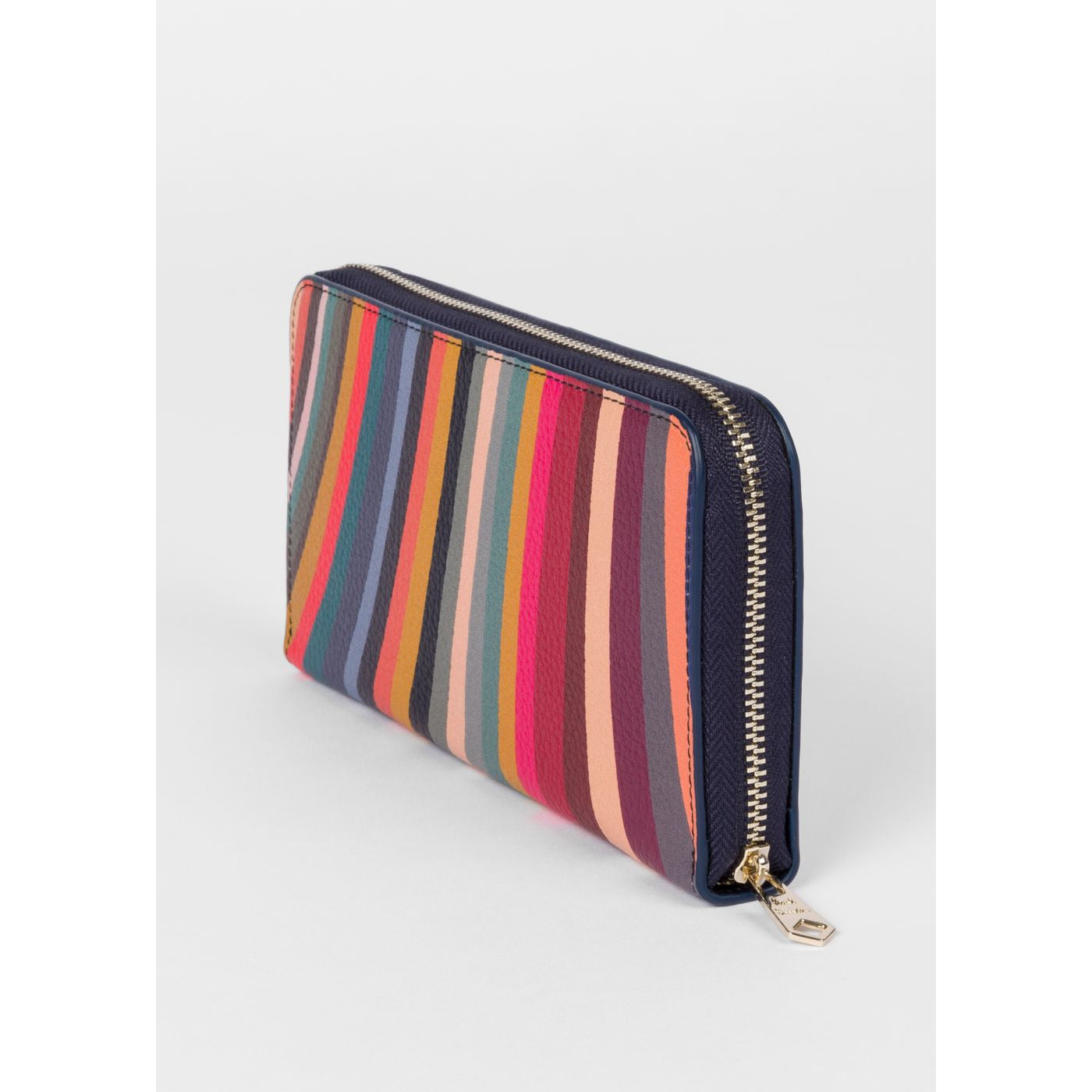 PAUL SMITH LARGE 'SWIRL' PRINT LEATHER ZIP AROUND PURSE