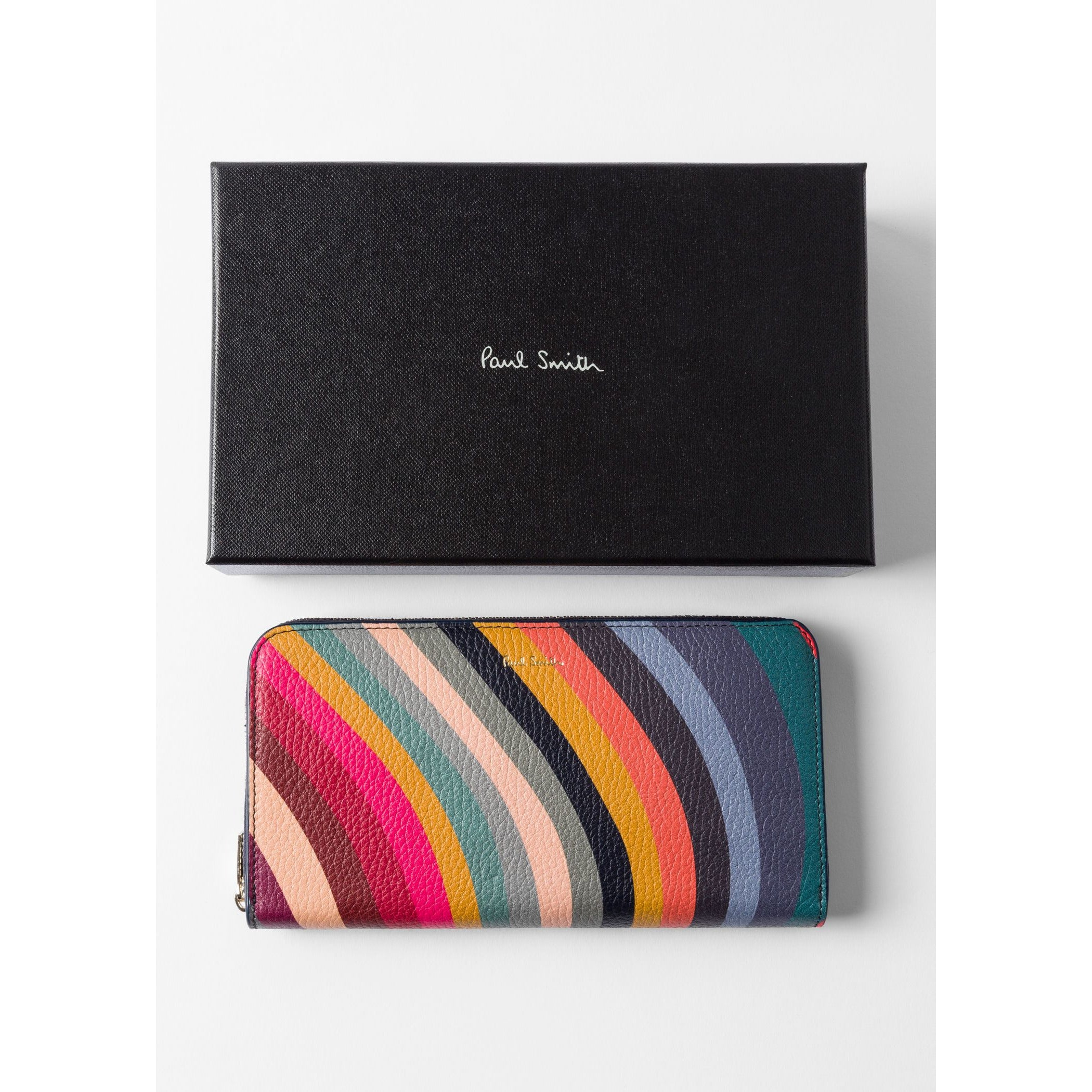 PS PAUL SMITH ACCESSORIES WOMENS LARGE ZIP PURSE SWIRL