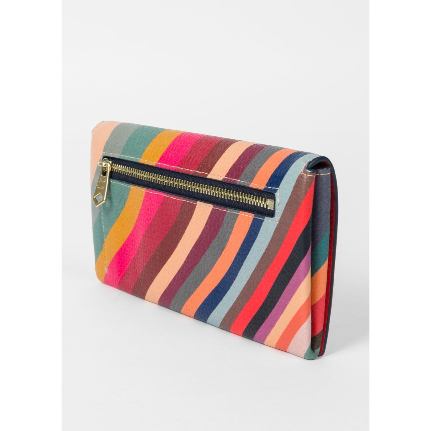 PS PAUL SMITH TRI-FOLD 'SWIRL' PRINT LEATHER PURSE