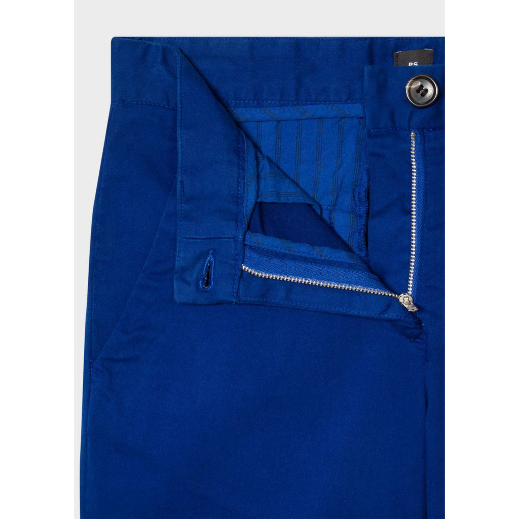 PS PAUL SMITH BOYFRIEND FIT TROUSERS COBALT BLUE
