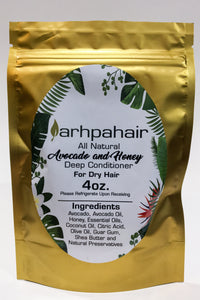 All Natural Avocado and Honey Deep Conditioner for Dry Hair