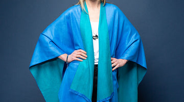 Beautiful Cashmere-Feel Reversible Poncho Wraps