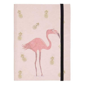 A5 Flamingo & Pineapple Notebook - Gift - Book