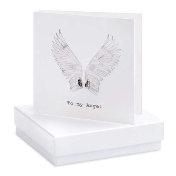 Angel Wings Earring Card - Jewellery - Earrings