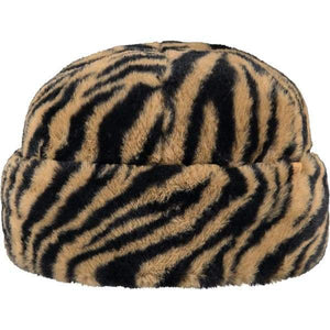 BARTS Cherrybush Faux Fur Hat - Print Brown Tiger Pattern