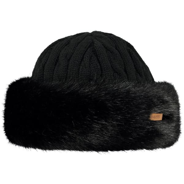 BARTS - Fur Cable Band Hat Black - Hats
