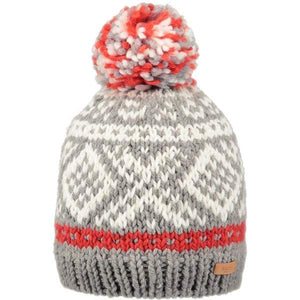 BARTS Log Cabin Beanie - Heather Grey