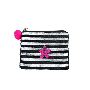 Beaded Purse with stripes and starfish design by Peace of Mind