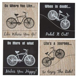 Bicycle Coasters - Set Of 4