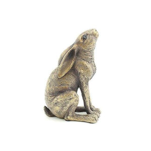 Bronze Hare Moon-Gazing - Home Decor - Animal