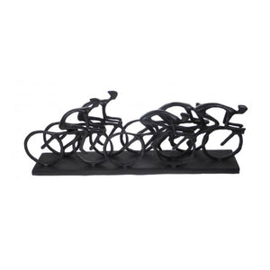 Bronzed Cyclist Peleton - Metallic Sculpture