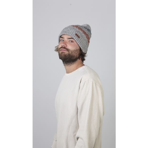 Bryar Beanie In Heather Grey With Matching Pom By Barts