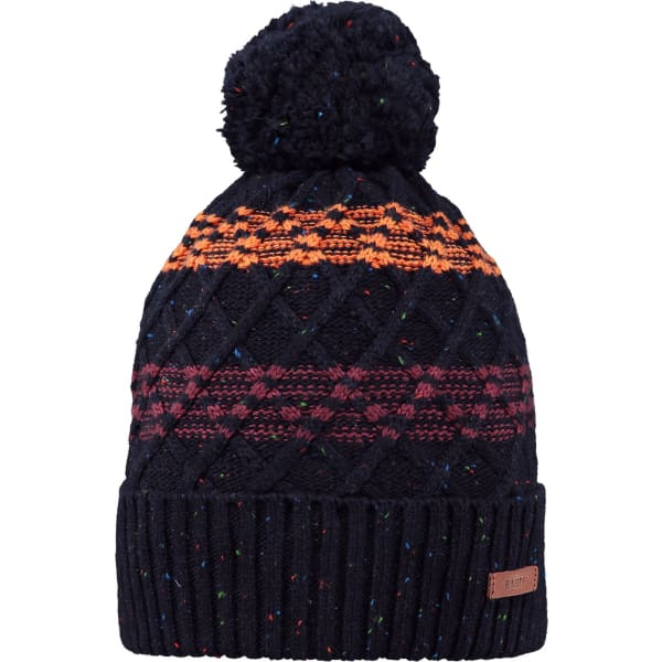 Bryar Beanie In Nay Blue With Matching Pom By Barts