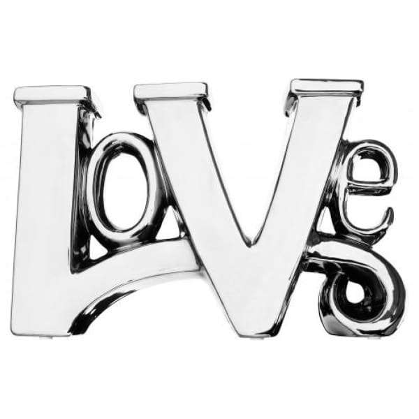 Ceramic Chrome Love Letter Sculpture