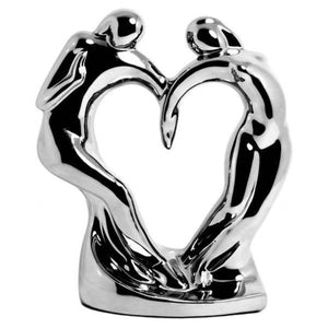 Ceramic Silver Dancing Couple