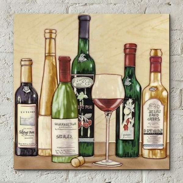 Ceramic Tile Art - Vineyards Collection By Kandy 12x12""