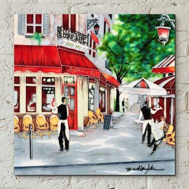 "Ceramic Tile - Bistro Waiters by Brent Heighton (12""x12"")"