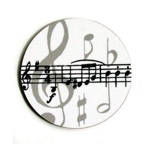 Coasters - Grey Music Note