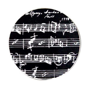 Coasters - Music Manuscript In Black