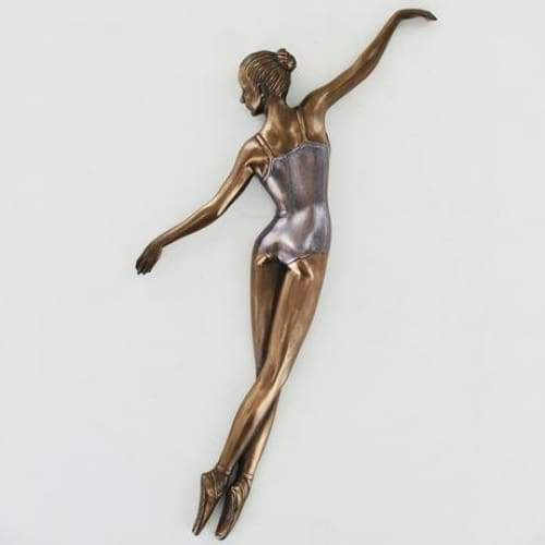Coloured Bronze Cold Cast Ballerina with outstretched arms
