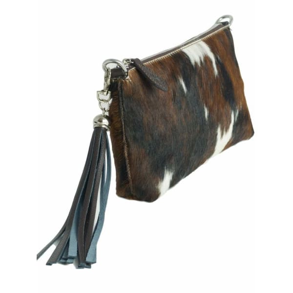 Cow Print Italian Leather Clutch Bag by Fioriblu