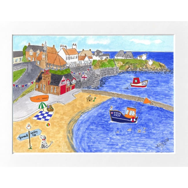 "Cullercoats Print (16""x12"") by Zoe Emma Scott"