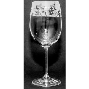 Cycling Design Wine Glass (350ml)