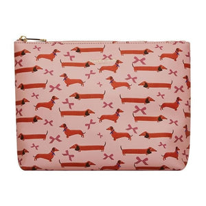 Dachshund Vegan Leather Wash Bag by Fenella Smith
