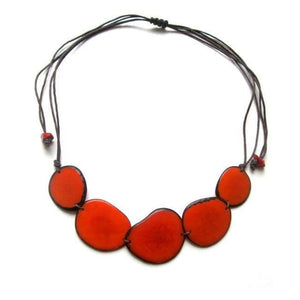 Diana Handmade Necklace in Orange