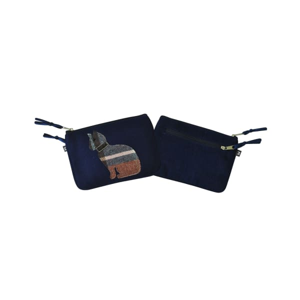 Earthsquared Applique Juliet Purse With Cat On Navy