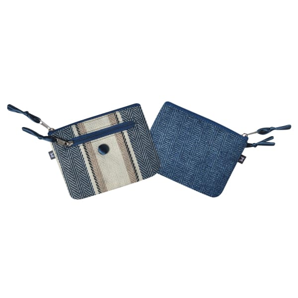 Earthsquared Emily Purse - Herringbone Blue