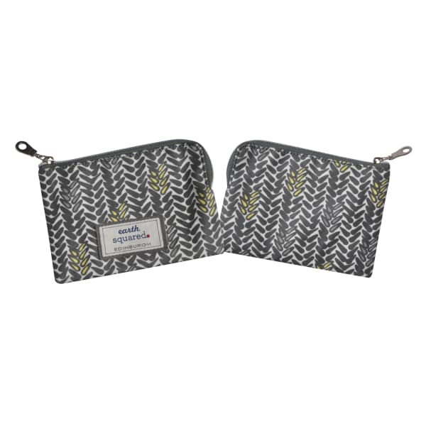 Earthsquared Oil Cloth Freya Purse In Grey
