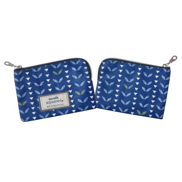 Earthsquared Oil Cloth Freya Purse In Navy Leaf