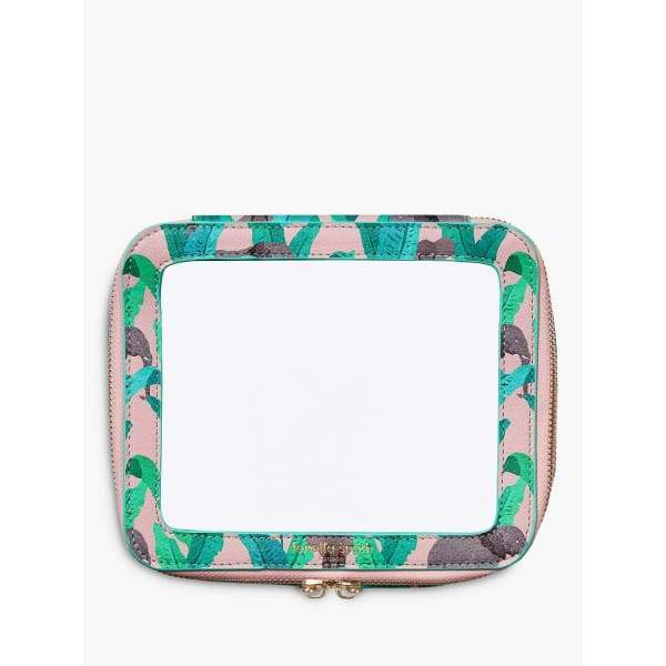 Elephant Design Clear Travel Case by Fenella Smith