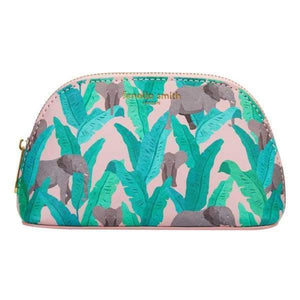Elephant Vegan Leather Oyster Cosmetic Case - Beauty - Wash Bag