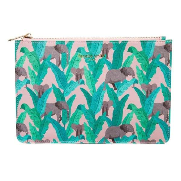 Elephant Vegan Leather Pouch - Gift - Pouch Bag