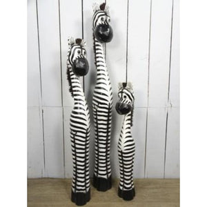 Fairtrade Chunky Wooden Zebra - 100cm Tall