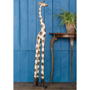 Fairtrade Hand Carved Giraffe - Large - Wooden Ornament