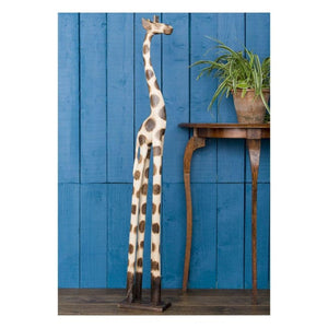 Fairtrade Hand Carved Giraffe - Medium - Wooden Ornament