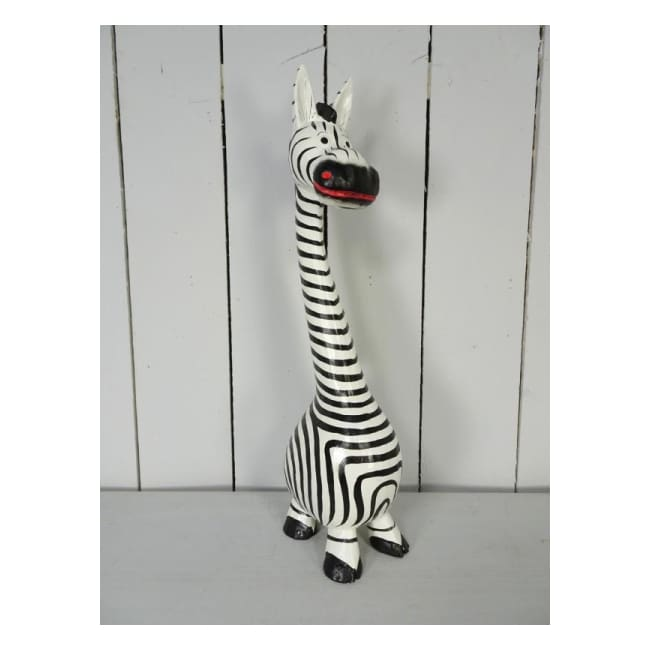 Fairtrade Standing Zebra - Medium - Wooden Animal
