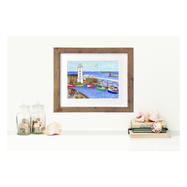 "Fish Quay North Shields Print (10""x8"") by Zoe Emma Scott"
