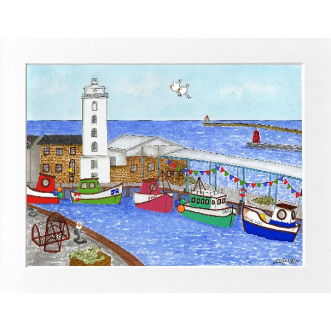"Fish Quay North Shields Print (16""x12"") by Zoe Emma Scott"