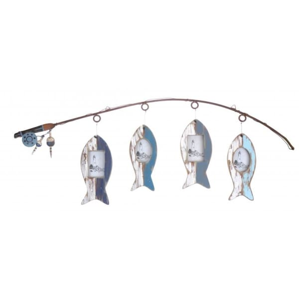 Fishing Rod & Fish Photo Frames - Home Decor - Photo Frame