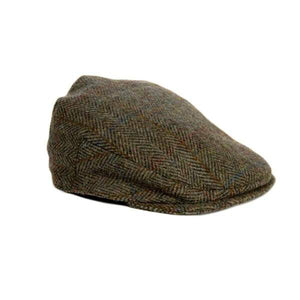 Flat Cap - Country Green Harris Tweed