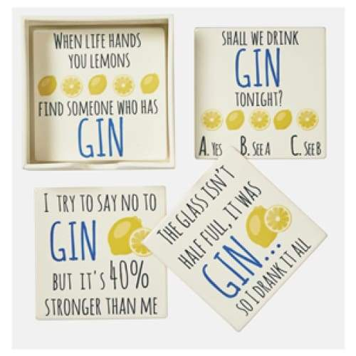 Gin Coasters - Set Of 4