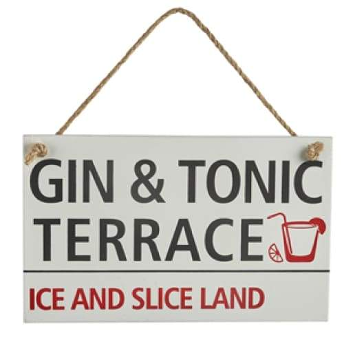Gin & Tonic Wooden Sign
