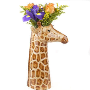 Giraffe Flower Vase by Quail Ceramics