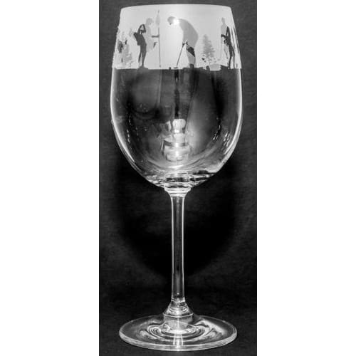Golfing Design Wine Glass (350ml)