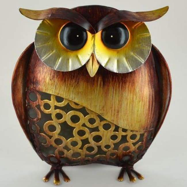 METAL OWL - MEDIUM OWL